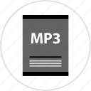 document, mp3, page, type icon