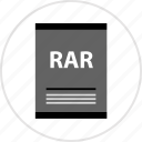 document, page, rar, type icon
