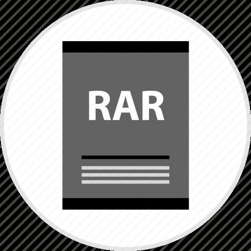 document, page, rar, type icon