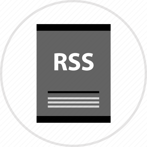 document, page, rss, type icon