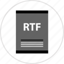 document, page, rtf, type icon