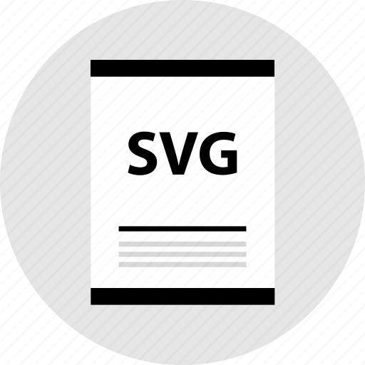 document, page, svg file, type icon