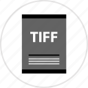 document, page, tiff, type icon