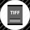 document, page, tiff, type icon
