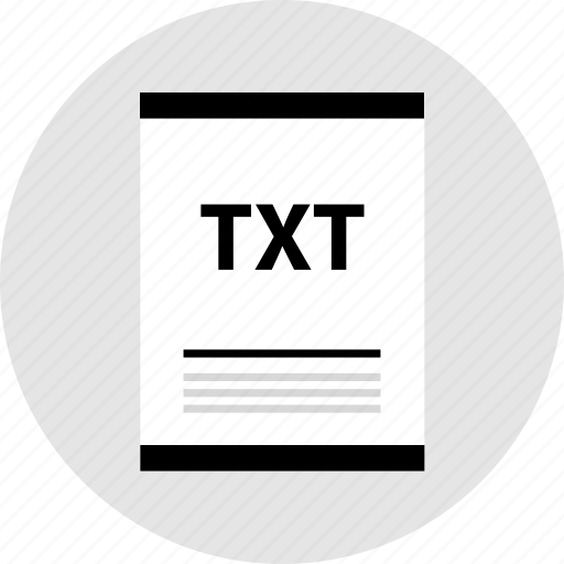 document, page, txt, type icon