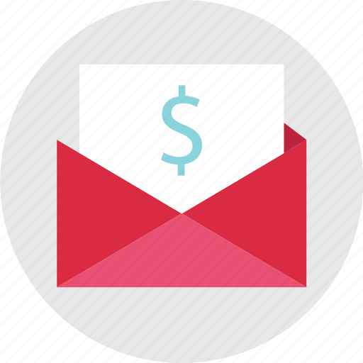 dollar, email, envelope, mail, send, sign icon
