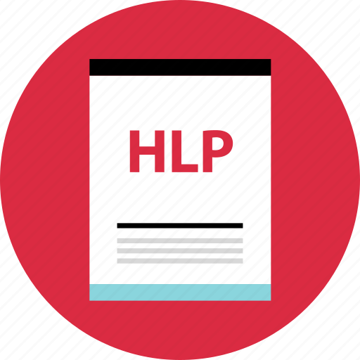 file, hlp, page icon