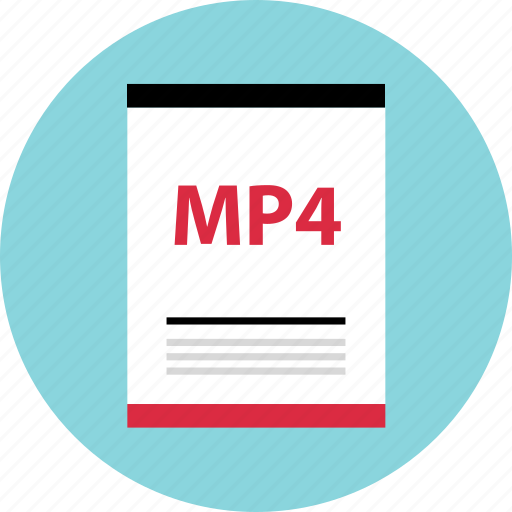 file, mp4, page, type icon