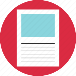 blog, circle, layout, online, page, web, wireframe icon