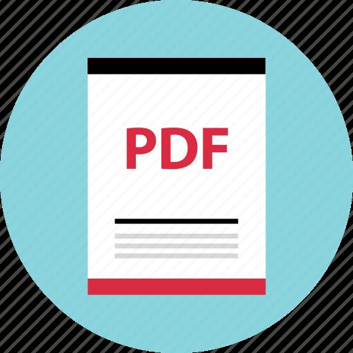file, page, pdf icon