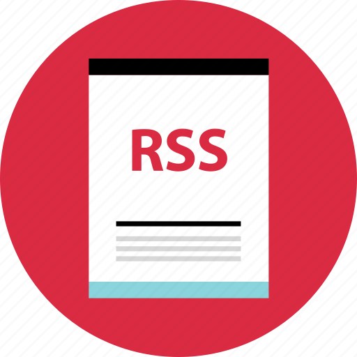 file, page, rss icon