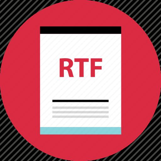 file, page, rtf icon