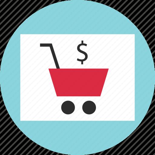 cart, circle, dollar, online, shop, shopping, sign icon