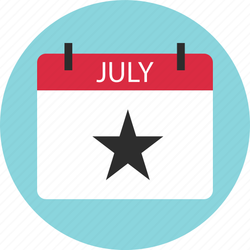 calendar, day, event, independence, july, special, star icon
