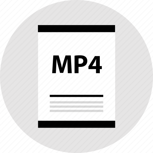 mp4, page, type icon
