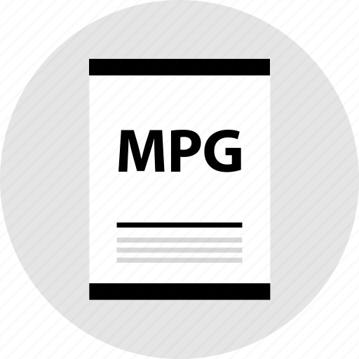 mpg, page, type icon