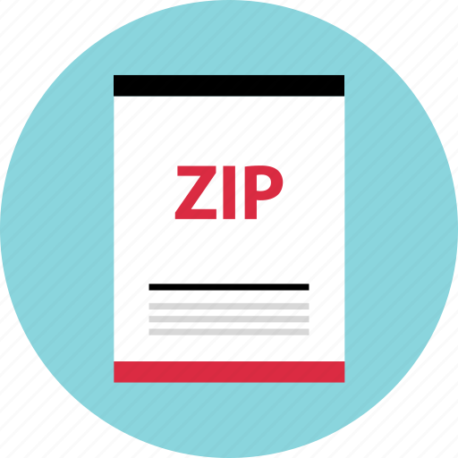 file, page, zip icon