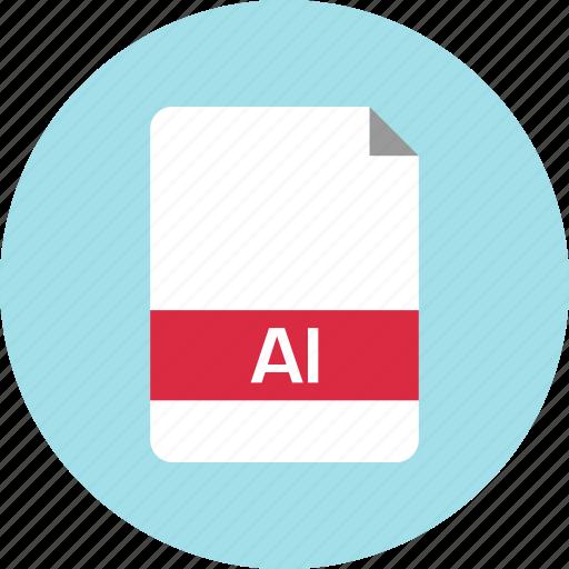 ai file, file, name icon