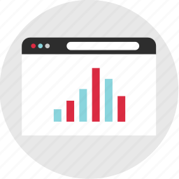 bars, browser, business, chart, graph, report, results icon