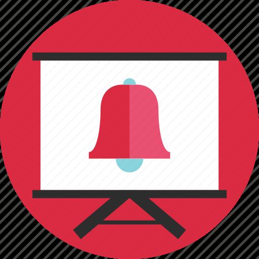 bell, board, learn, online, schedule, school, teach icon