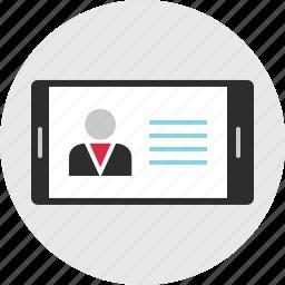 cell, data, landscape, mobile, phone, profile, user icon