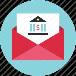 address, bank, banker, banking, email, envelope, statment icon