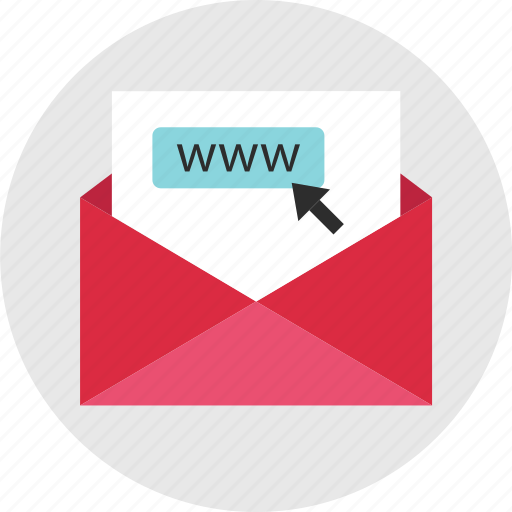 click, email, invitation, newsletter, online, web, www icon
