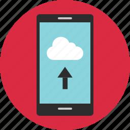 cloud, data, online, safe, upload, usage, web icon