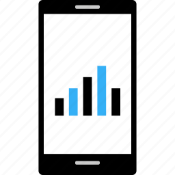 bars, business, cell, data, mobile, wireframe icon