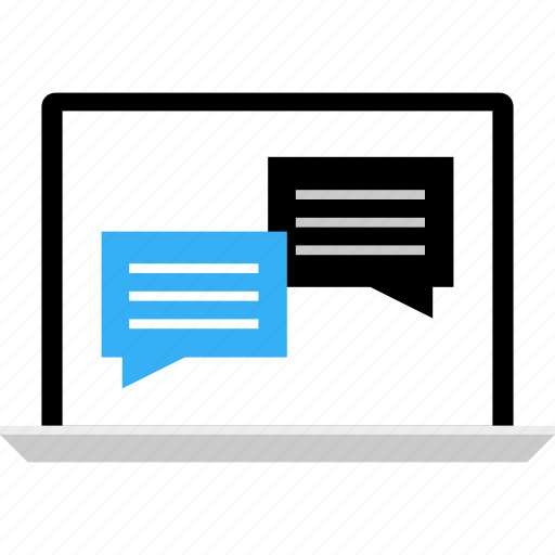 business, chat, conversation, message, online, talk, talking icon