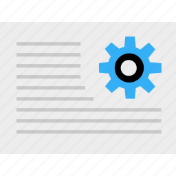 business, gear, graph, paper, report icon