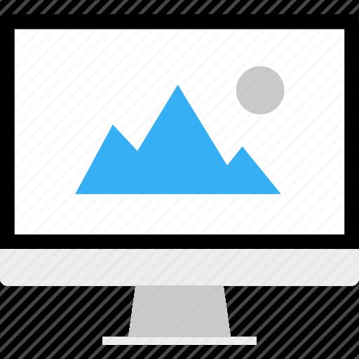 album, business, computer, monitor, photo, picture icon