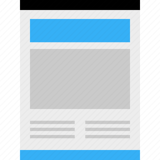 blog, business, page, web, website, wireframe icon