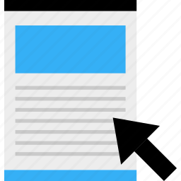blog, business, page, web, wireframe, www icon