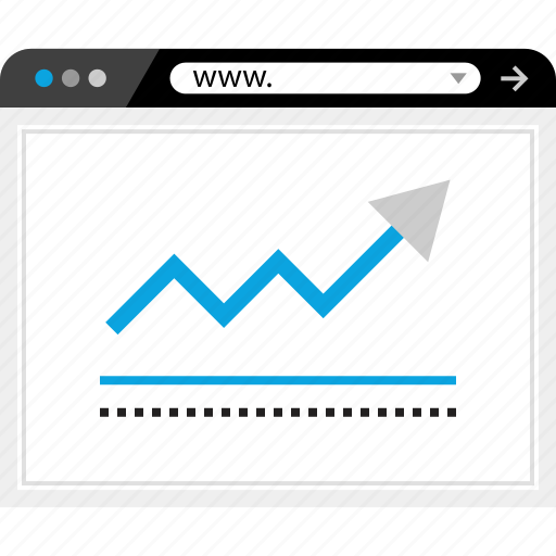 arrow, data, graphic, www icon