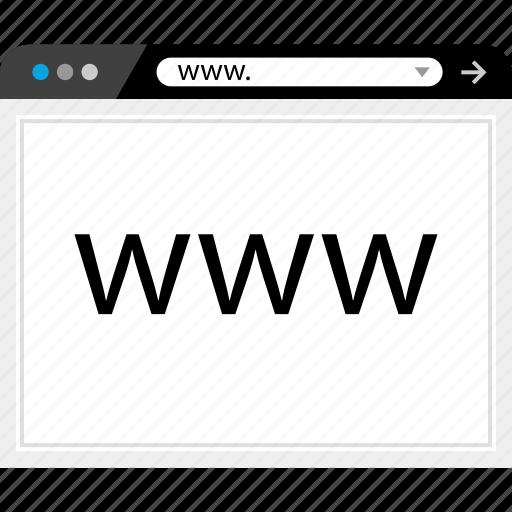 internet, web, wide, world icon