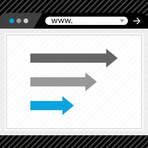 arrows, right, www icon