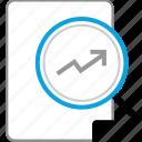 analytics, arrow, high, up icon