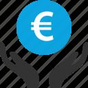 euro, hand, money, uk icon