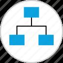 analytics, connect, data, web icon