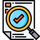 analysis, business, corporate, data, document, evaluation, research icon