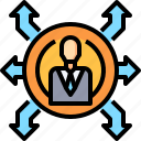 business, connection, corporate, manager, planning icon
