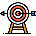 business, corporate, goal, planning, strategy, target, targeting icon