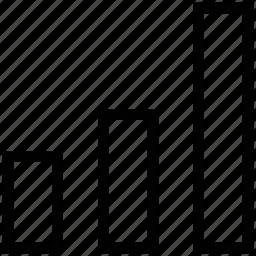analysis, bar graph, increasing graph, statistics, vertical graph icon
