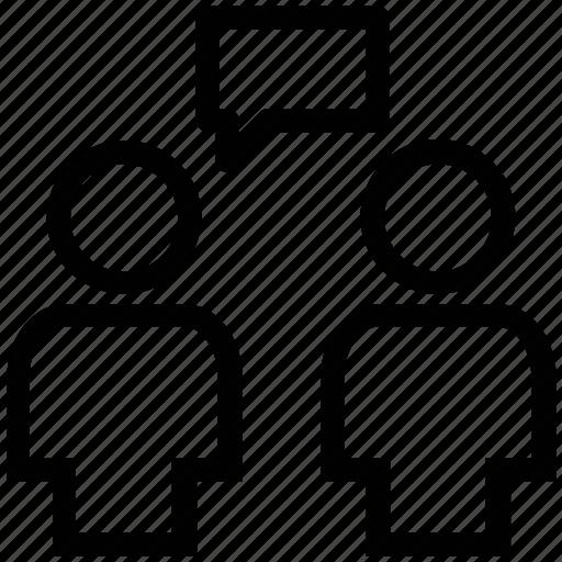 chat sign, communication, conversation, dialogue, work communication icon