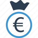 currency, euro, wealth icon