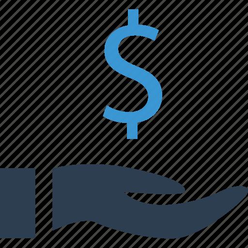 Finance, hand, money, return icon - Download on Iconfinder