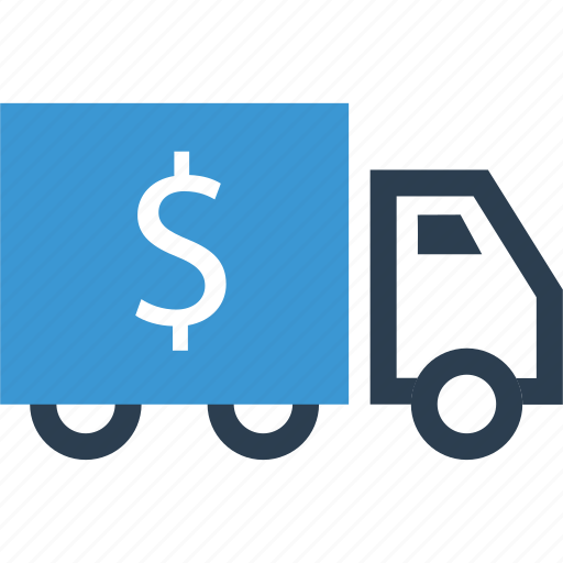 Dollar, sign, truck icon - Download on Iconfinder