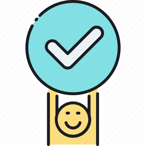accepted, approved, checked icon