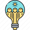 brainstorm, brainstorming, light bulb icon